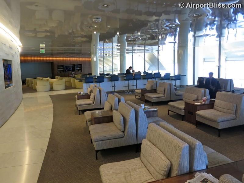 Korean Air KAL Business Class Lounge LAX Los Angeles CA