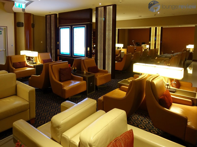 emirates business class lounge dubai review