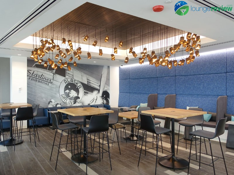 First look the new alaska lounge at seattle tacoma
