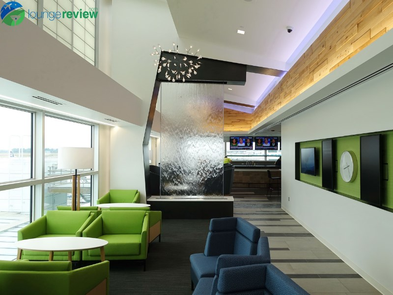 First look the new alaska lounge at seattle tacoma - China southern airlines london office ...